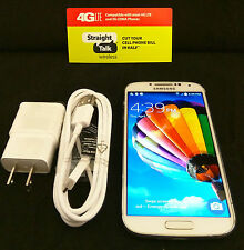 Unlocked Straight Talk Samsung Galaxy S4 White - 16GB - 4G LTE Verizon Towers