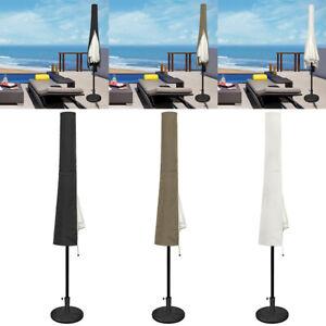 Schutzhülle für 3m Sonnenschirm Garten Abdeckung Sonnenschirmhülle Wasserdichtes