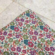 2m Liberty Clarisse Fine Cord Remnant 200 x 146 cm RRP £35/m Floral Green Purple