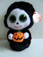 """NWT TY Beanie Boos 6"""" TREATS Ghost Halloween Plush Pumpkin Boo Glitter 2015 NEW"""