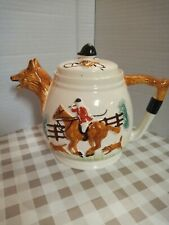 More details for hunting scene tea pot (very good condition)