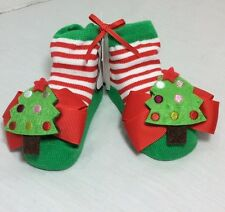 Mud Pie Socks Baby Girl First Christmas Tree Holiday 0-12 Months NWT