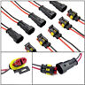 2 Pin Way Car SUV Boat Sealed Waterproof Electrical Wire Connector Plug Terminal
