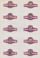 4 Séries Bagues de Cigare  Gezelle BN78197 Timbres