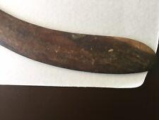 Old North West Australian Aboriginal Hooked Boomerang stone adzed cut Mulga Wood