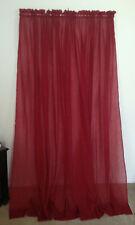 Voile Crinkle Sheer Curtain Panels (3) 53 x 86 Dark Red