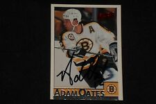 HOF ADAM OATES 1995-96 BOWMAN SIGNED AUTOGRAPHED CARD #44 BOSTON BRUINS