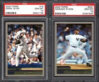 2000 Topps #15 DEREK JETER New York Yankees PSA 10 GEM MINT (2) CARD LOT
