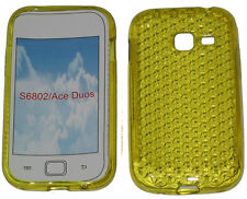 For Samsung Galaxy Ace Duos GT S6802 Pattern Gel Case Protector Cover Yellow New