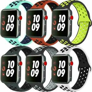 For Apple Watch Nike Silicon Sports Strap 38/40mm42/44mm Soft Silicone UK SELLER