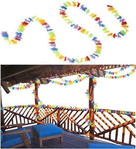 BLÜTEN GIRLANDE 300cm Hawaii Südsee Karibik Blumengirlande Hula Party Deko 2356
