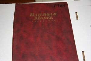 RAILROAD MODEL CRAFT MAGAZINE FULL YEAR 1969 IN BINDER,MOST ISSUES IN GOOD SHAPE