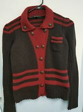 WOMENS GUCCI 100% WOOL  sweater red and green size M