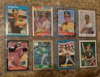 (8) Mark McGwire 1987 Donruss Fleer Topps Rookie Card Lot RC 1988 Toysrus A's