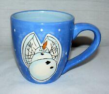 Kane Home Ceramic 12 oz. Blue Snow Angel Mug Cup