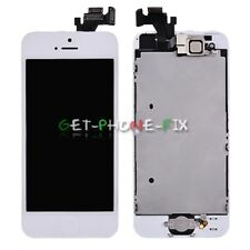 White LCD Screen Touch Digitizer Frame + Front Camera Home Button For iPhone 5