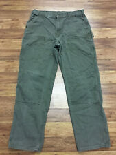 MENS 38 x 34 - Carhartt B136 Duck Double Knee Rancher Dungaree Fit Work Pants