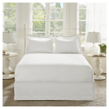 Ruffled Bed Skirt and Shams Set- Madison Park White King