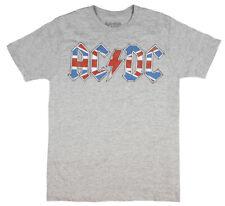 AC/DC Rock Band Mens' British UK Union Jack Distressed Flag Logo T-Shirt