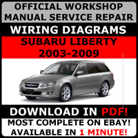OFFICIAL WORKSHOP Service Repair MANUAL SUBARU LIBERTY 2003-2009 + WIRING
