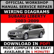 # OFFICIAL WORKSHOP Service Repair MANUAL SUBARU LIBERTY 2003-2009 + WIRING
