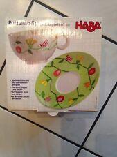 Haba - Geschirrset Tasse / Unterteller Frühlingswiese * Neu & OVP