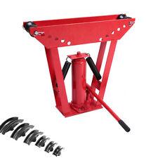 Heavy Duty 12 Ton Hydraulic Manual Pipe Bender 6 Dies Tubing Tube Bending Tool