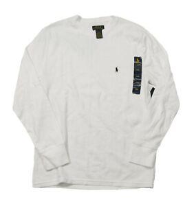 Polo Ralph Lauren Men's White Soft & Light Waffle Thermal Crew-Neck T-Shirt