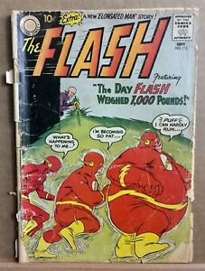 """The Flash #115  """"The Day Flash Weighed 1000 Pounds!"""" - 2nd App. of Elongated Man"""