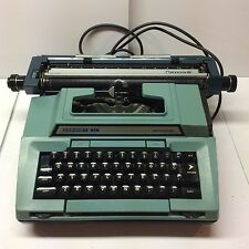 Vintage Teal/Blue Coronet XL Electric Typewriter Parts Repair or Decoration As-I