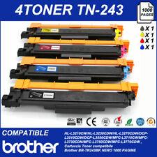 SET 4 Cartucce Toner BROTHER TN243 MULTICOLORE DCP-L3550CDW/MFC-L3710CW/L373CDN