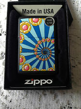 ZIPPO FLOWER POWER IN BLACK MATTE NEW