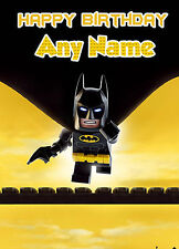 - LEGO BATMAN MOVIE - PERSONALISED ANY NAME / AGE CHILDREN'S  BIRTHDAY CARD