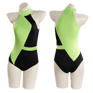 Kim Possible Shego Cosplay Costume Swimwear Outfits Halloween Carnival Suit