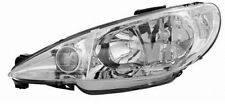 clear chrome Left side headlight front light for PEUGEOT 206 CC 2D from 2000