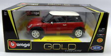 Burago 1/18 Scale Diecast - 18-12034  2001 Mini Cooper Red White Model Car