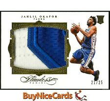 15-16 Jahlil Okafor Panini Flawless Jumbo 2 Color Game Worn RC Rookie Patch /25