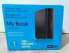 Western Digital My Book 1TB, Externe Festplatte USB 2.0 Firewire eSata Home Edit