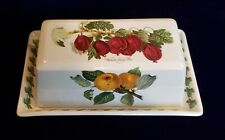 "Portmeirion Pomona Butter dish Wilmot's Early Red 1/4 lb. tray 7 3/8"" long"
