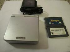 Nintendo Gameboy Advance GBA SP Silver Console System+charger+2 gba game