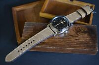 MA WATCH STRAP 26 24 22 GENUINE NUBUCK LEATHER FOR PANERAI HANDMADE BEIGE COSTA