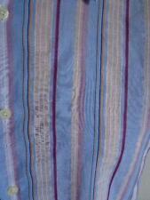 PARKE & RONEN XL Luxury Dress Shirt Blue White Purple Orange & Red Striped