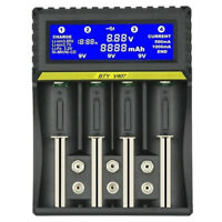 BTY-V407 Battery Charger Li-ion Li-fe Ni-MH Ni-CD Smart Fast Charger for 18 O3J1