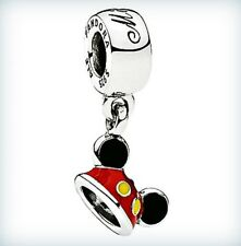 NEW Authentic Pandora Disney 2017 MIckey Ear Hat Dangle Charm Parks Exclusive