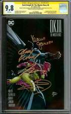 DARK KNIGHT III: THE MASTER RACE #6 CGC 9.8 WHITE PAGES // SIGNED BY MILLER + 3