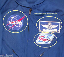 NASA SPACE PROGRAM FLIGHT SUIT 3-PATCH SET includes Custom Embroidered your NAME