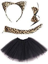 LEOPARD FANCY DRESS COSTUME GIRLS LADIES WILD CAT TUTU COSTUME SKIRT HALLOWEEN
