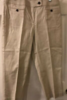 Talbots Women's Pants Size 10 Beige Capris Stretch  Style Cotton Bd NEW 31x24