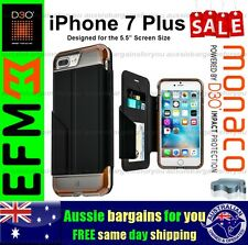 iPhone 7 Plus Case EFM Monaco Wallet D3o Bumper Card Cover Black Tough Duty Slim