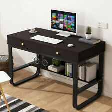 New Computer Desk Laptop Study Table Office Desk With Multi-layer Storage Frame